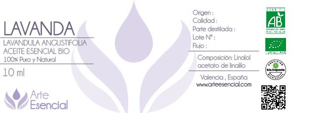 una etiqueta de aceites esenciales